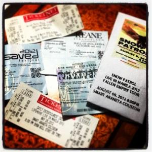 2012 Concerts