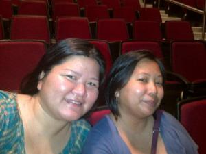 Couldn't find the precious photos I took, so here's Mica and me all smiles (and sweat) after the concert