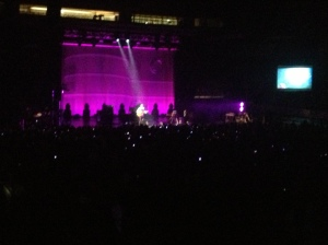 I wish I could adequately capture how pretty the lights were. This was Tom doing an acoustic version of Bedshaped